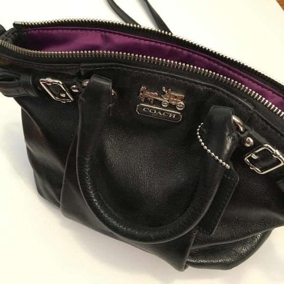 Coach Handbags - Black Leather Crossbody Bag - COACH